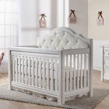 cristallo forever crib vintage white with fabric panel girl nursery furnitureannabelles baby nursery furniture relax emma crib