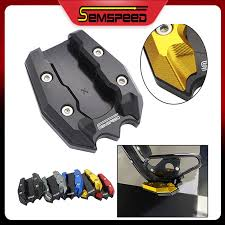 <b>SEMSPEED</b> Motorcycle <b>Side Stand Kickstand</b> Support Extension ...