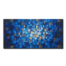 MyArton Large Thick Abstract Dark Blue add ... - Amazon.com