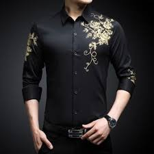 Spring and Autumn Shirts Men's Long Sleeve Print Business ... - Vova