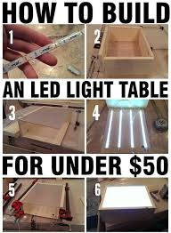 how to build an led light table with wood led strips is creative inspiration for us get more photo about diy home decor related with by looking at photos build easy diy lighting