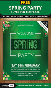spring welcome party flyer psd template designyep spring welcome party flyer psd template