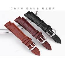 High Quality <b>Durable men women Genuine</b> Leather watch strap for ...