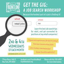center for frontline retail get the gig a job search workshop event navigation