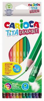 <b>Carioca набор цветных карандашей</b> Tita Erasable 12 цветов ...