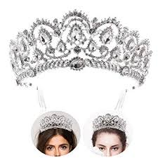Frcolor Tiara Crowns ,<b>Rhinestone Crystal Queen</b> Tiara <b>Headband</b> ...