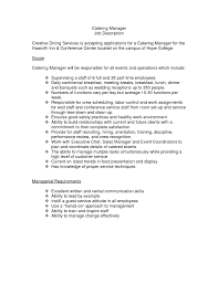catering resume sample  seangarrette cocatering