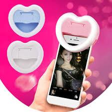 <b>Universal Heart</b> Shape LED Photography Flash Light Up Selfie ...