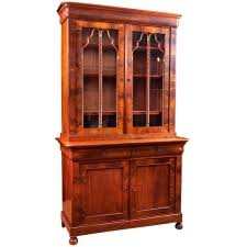 antique french charles x bookcase in mahogany circa 1830 antique english country armoire circa 1830s