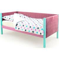"""«<b>Детская кровать</b>-тахта мягкая <b>Бельмарко</b> """"<b>Skogen</b> мятный ..."""