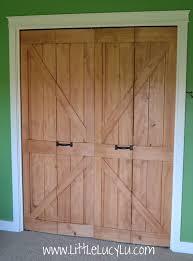 Closet Barn Doors Interesting Sliding Closet Barn Doors On Design Ideas