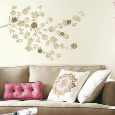 x plush wall:  in x  in floral blossom with embellishments  piece peel and