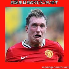お誕生日おめでとうごさいます - Phil Jones Scared Face | Meme Generator via Relatably.com