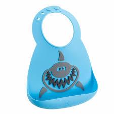 <b>Make My Day</b> Детский <b>нагрудник</b>, голубой с серым Shark: BB118 ...