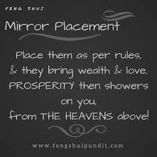 feng shui mirror placement bad feng shui mirror