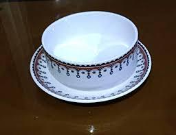 Buy Metier <b>Bone</b> China Crockery Bowl & Saucer Set of <b>2 pcs</b>. Make ...
