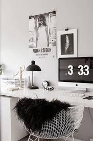 office decor black white home office inspiration