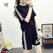 Korean <b>Style 2 in 1 sports</b> suit Korean short-sleeved shirt <b>sport</b> pants ...