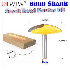 "<b>1PC 8mm Shank Small</b> Bowl Router Bit 1 1/2"" Radius 1 3/4"" Wide ..."