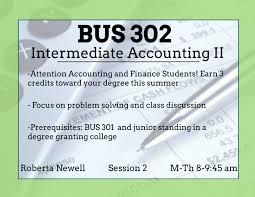 home uri summer sessions bus 302 intermediate accounting ii