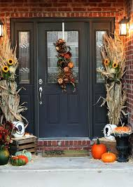 front entry decorating ideas ideasjpg cute and inviting fall front door decor ideas jpg