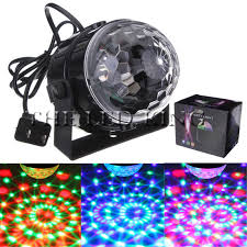 <b>Mini LED</b> Stage Light 6W 9W <b>110V 220V RGB</b> Crystal Magic Ball ...