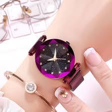Luxury <b>Women</b> Watches <b>Ladies</b> Magnetic <b>Starry Sky</b> Clock Fashion ...