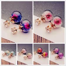 <b>Elegant Flower</b> Crystal Ear Stud Earrings <b>Women</b> Jewelry-buy at a ...