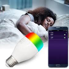 7W <b>RGBW E27</b> B26 Smart Bulb Wireless WiFi <b>Remote Control</b> Light ...