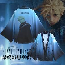 <b>Anime Final Fantasy</b> VII Cloud Strife Haori Cloak <b>Cosplay</b> Costume ...