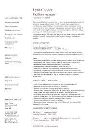 facilities manager cv   hashdocfacilities manager cv
