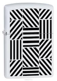 "<b>Зажигалка Zippo</b> ""<b>214 Abstract</b>"", 3,6 х 1,2 х 5,6 см, цвет белый ..."