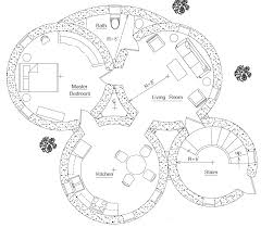 Earthbag House Plans   Small  affordable  sustainable earthbag    Rainwater Towers Apartments floorplan  click to enlarge