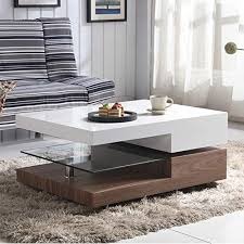 GOLDFAN New Modern <b>High Gloss Coffee Table</b> End Side Coffee ...