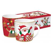 <b>Набор</b> из 2-х <b>кружек EASY</b> LIFE Дед Мороз с друзьями в ...