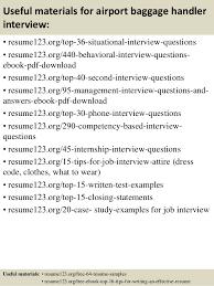 top  airport baggage handler resume samples       useful materials for airport baggage handler