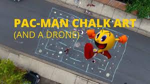 <b>PACMAN</b> CHALK ART (AND A DRONE) - BITS 20161016 #<b>0001</b> ...