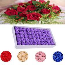 kcasa <b>50pcs</b> rose bath soap body cleaning <b>flower</b> soap wedding ...