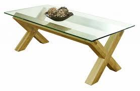 Lyon Oak Bedroom Furniture Lyon Oak Glass Topped Coffee Table