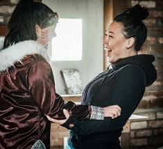 students on ice arctic expedition northern public affairs natasha allakariallak and maatalii okalik engage in traditional throat singing returning inuit culture laughter