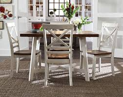 Distressed White Kitchen Table White Dining Table Distressed Wood Seats Amelia 5 Piece Dining