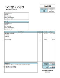 sample of invoices for services info hourly invoice template invoice templates