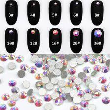 <b>Top Quality SS3 SS30 Crystal</b> AB Color Super Shiny Nail Art ...