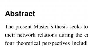 How And When To Write a Master Thesis Abstract    Vladimir Chen     Vladimir Chen   a Blog of an entrepreneur