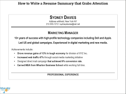 short resume summary sample document resume short resume summary how to write an effective resume summary statement how to write a resume