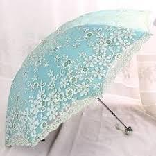 Beautiful Lace-Embroidered <b>Floral UV</b>-Resistant <b>Folding Umbrella</b> 4 ...