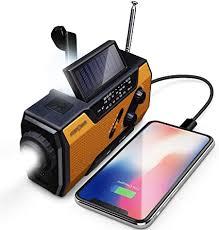 FosPower Emergency Solar Hand Crank Portable ... - Amazon.com
