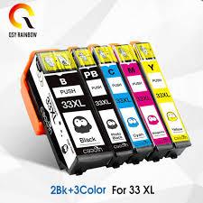 5PK <b>33XL</b> Compatible ink cartridge for Epson XP 530 XP 630 XP ...