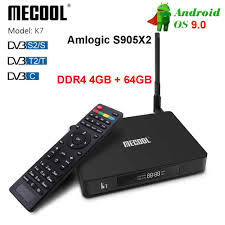 <b>Mecool K5</b> Android 9.0 Smart TV Box 2.4G 5G <b>DVB</b> S2 T2 Wifi ...