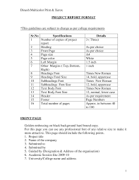project report sample how to write a project report project report format 04